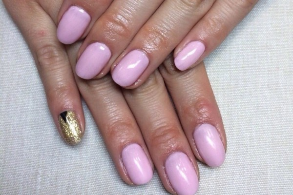 ピンク,1カラーネイル