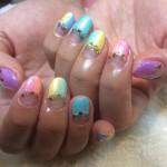 Rainbow☆キラキラ,グラデnail☆
